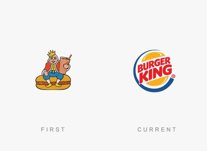 Logotipo antigo e novo Burger King