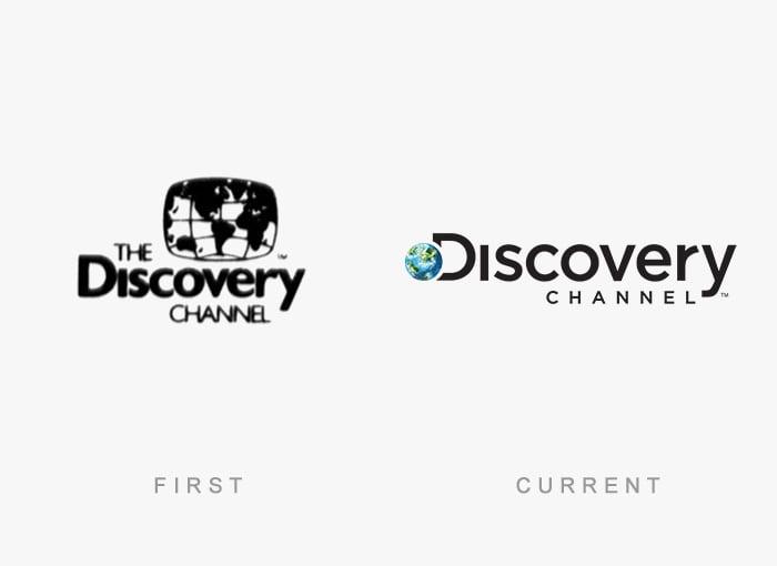 Logotipo antigo e novo Discovery