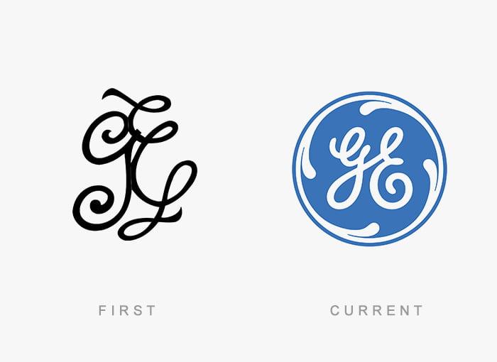 Logotipo antigo e novo GE