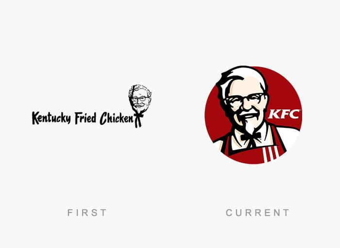 Logotipo antigo e novo KFC