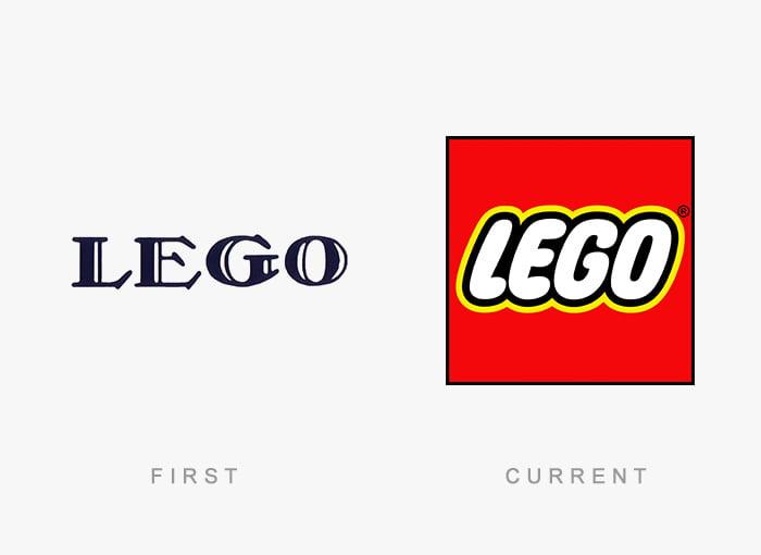 Logotipo antigo e novo Lego