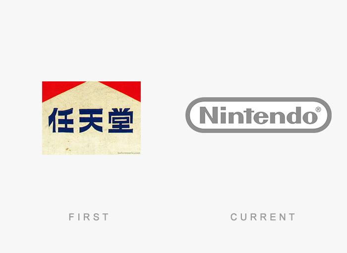 Logotipo antigo e novo Nintendo