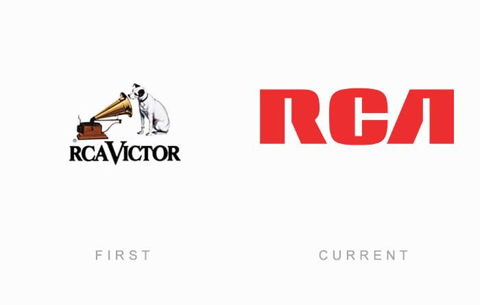 Logotipo antigo e novo RCA