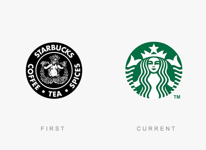 Logotipo antigo e novo Starbucks