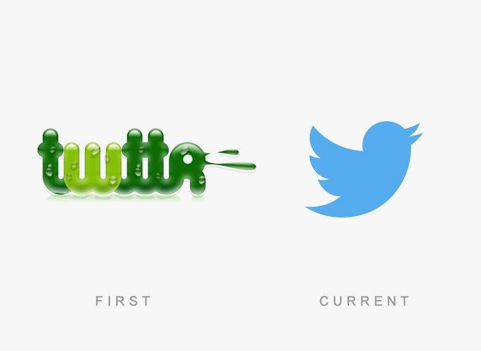 Logotipo antigo e novo Twitter